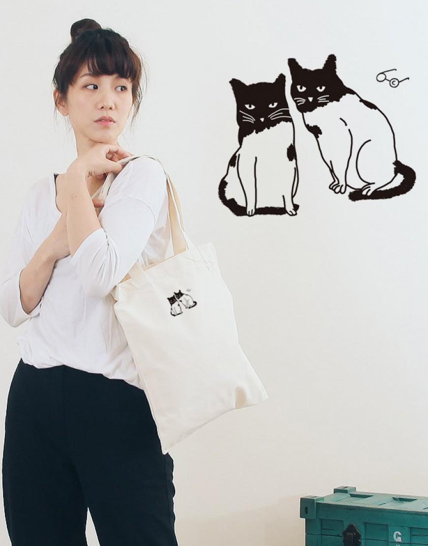 5N棉布單層直式袋 - 貓咪 I 10入起訂 I