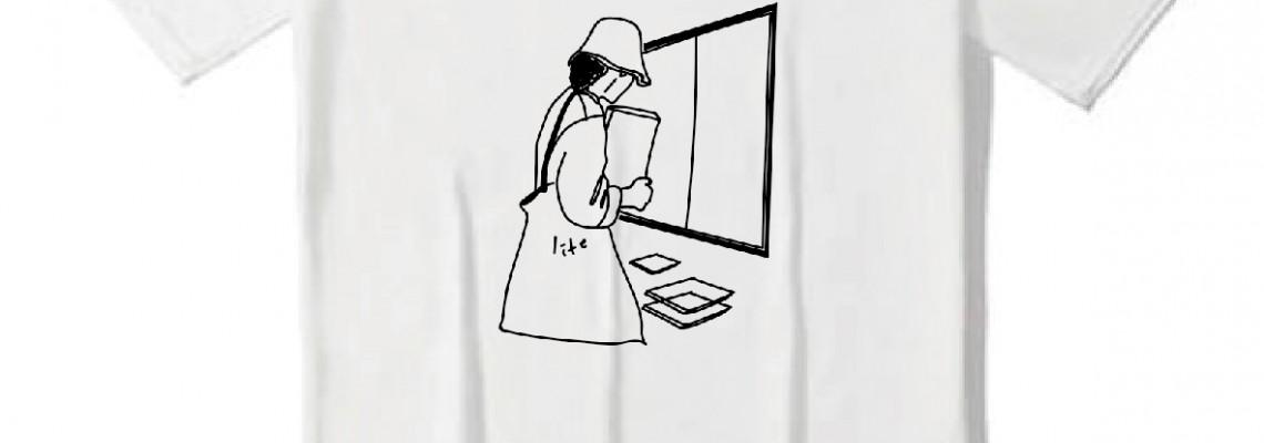 印圖 / 插畫衣服 - 電腦前的白同學