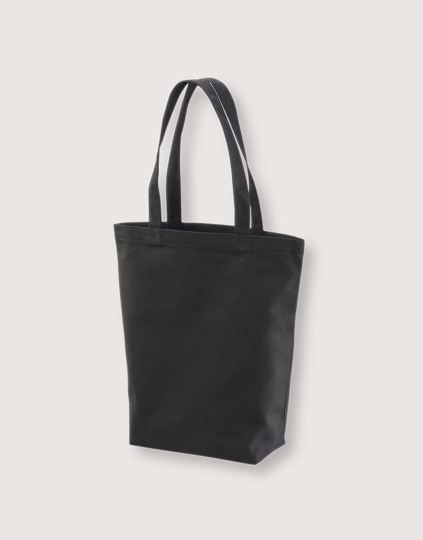日系直式有底側背包 - 黑色