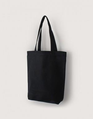 黑色中帆布單層有底直式袋