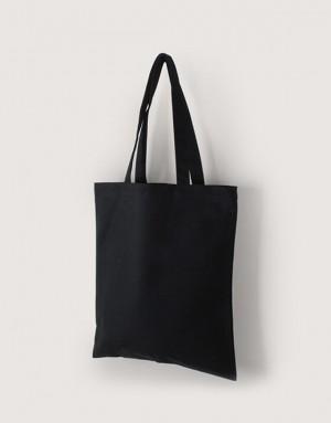 黑色中帆布單層直式袋