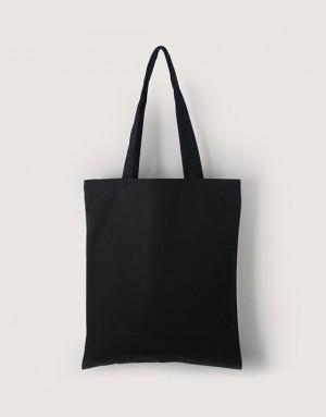 黑色中帆布雙層直式袋