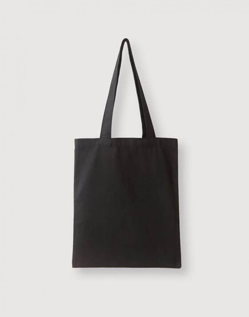 12安厚帆布黑色單層直式肩背包