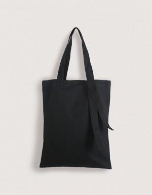 黑色中帆布單層提帶外露直式袋