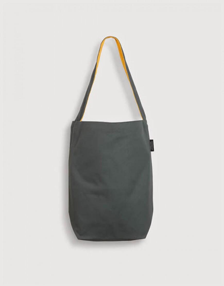單肩雙面拼色直式袋 六色