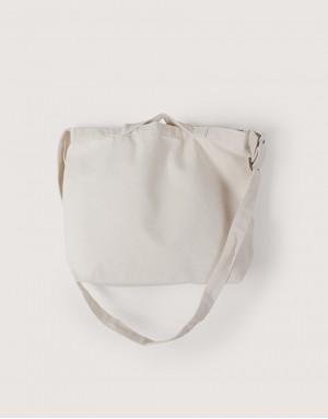 中帆布雙層橫式兩用袋 I 銅扣款 I