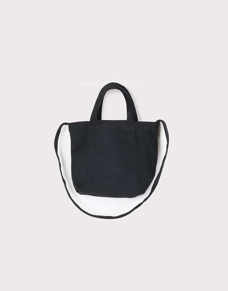小朋友兩用袋 - 帆布托特包 - 黑色