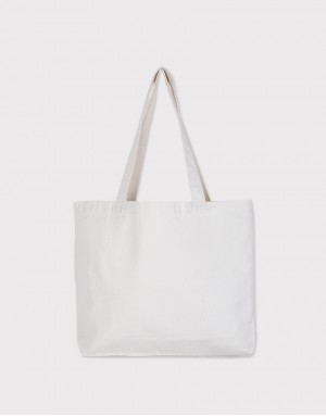 中帆布單層橫式側背包