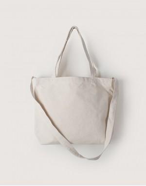 中帆布橫式兩用袋