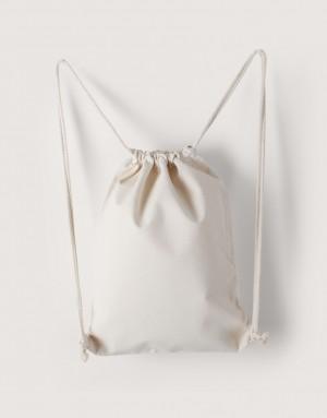 中帆布束口後背包