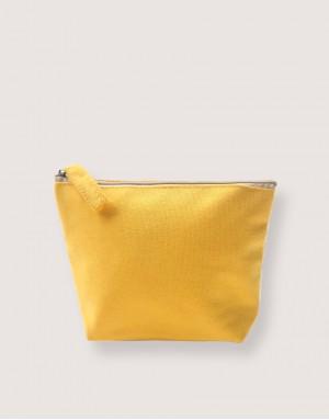 帆布有底化妝包 - 黃色