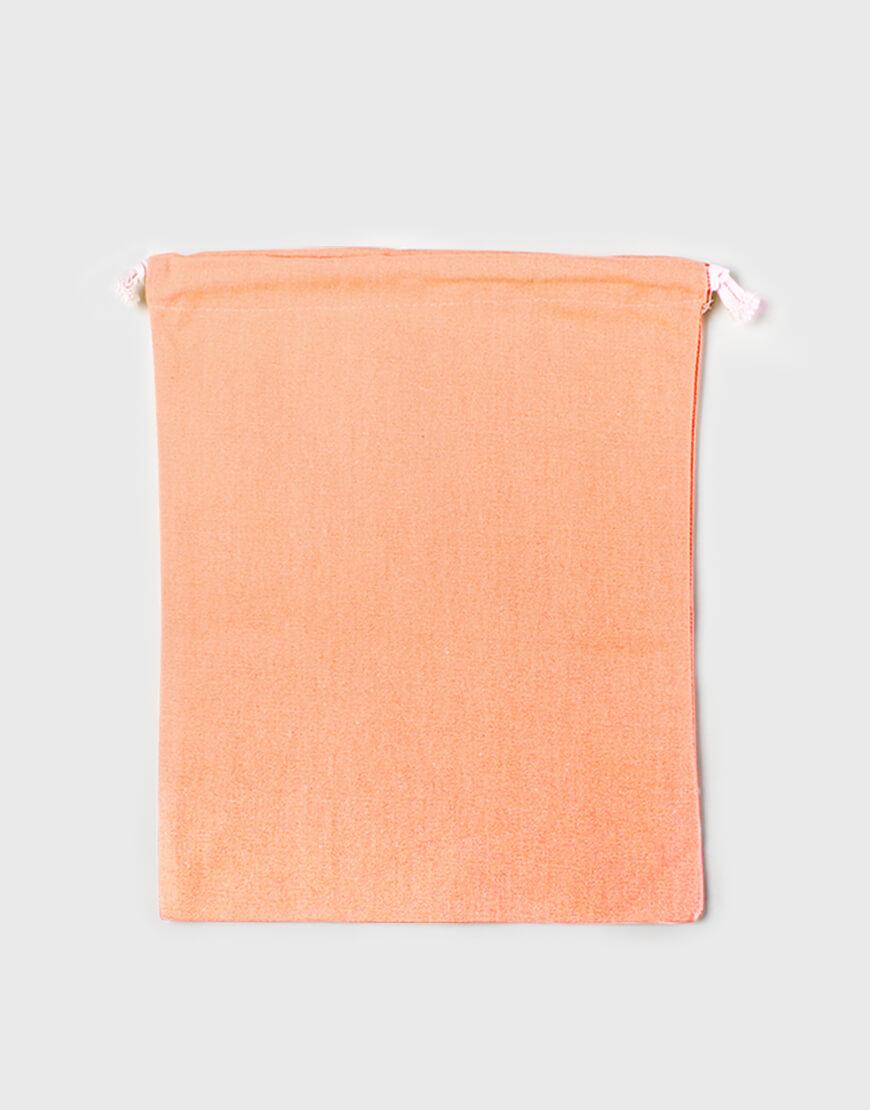 多色帆布束口收納袋 - 橘色