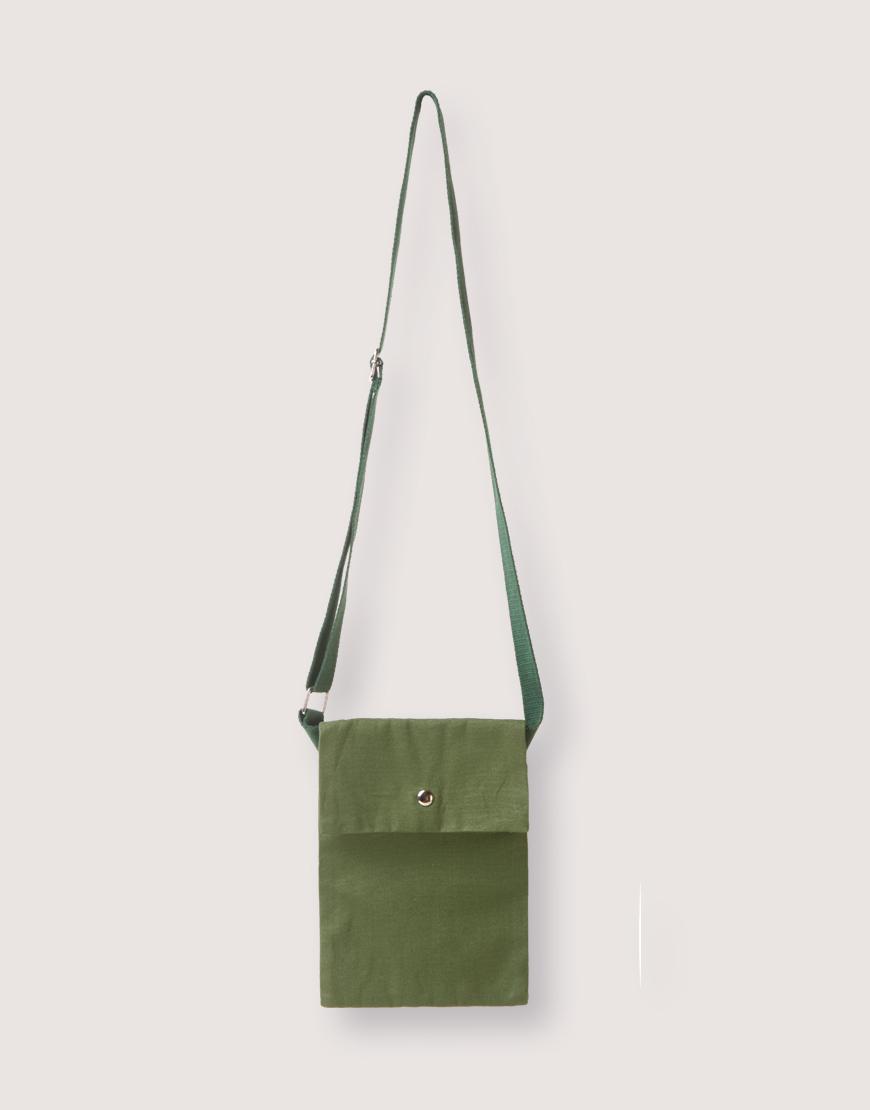 輕帆直式斜背有蓋小包 - 2色