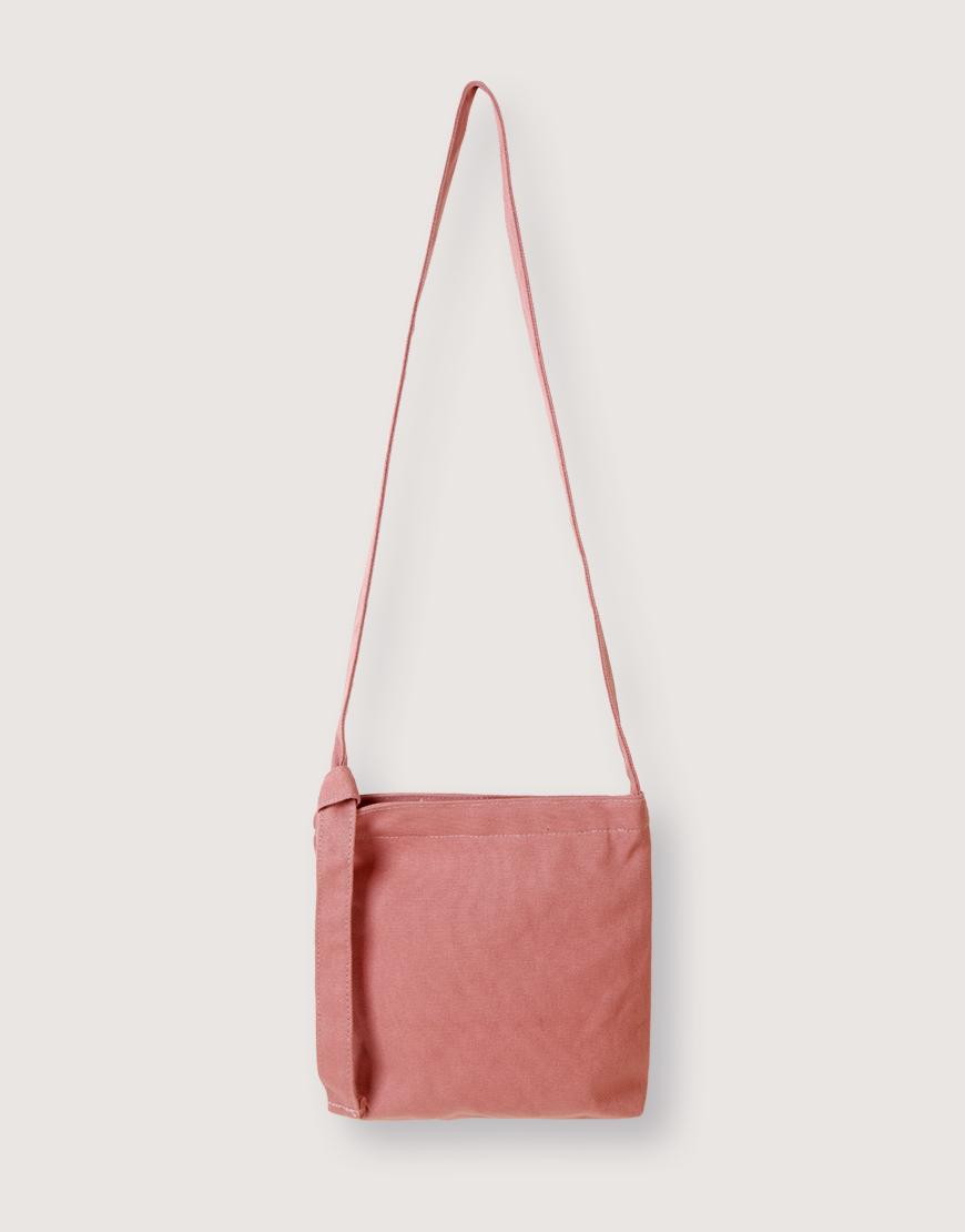 16安厚帆布斜背可調帶有底方形包 - 4色