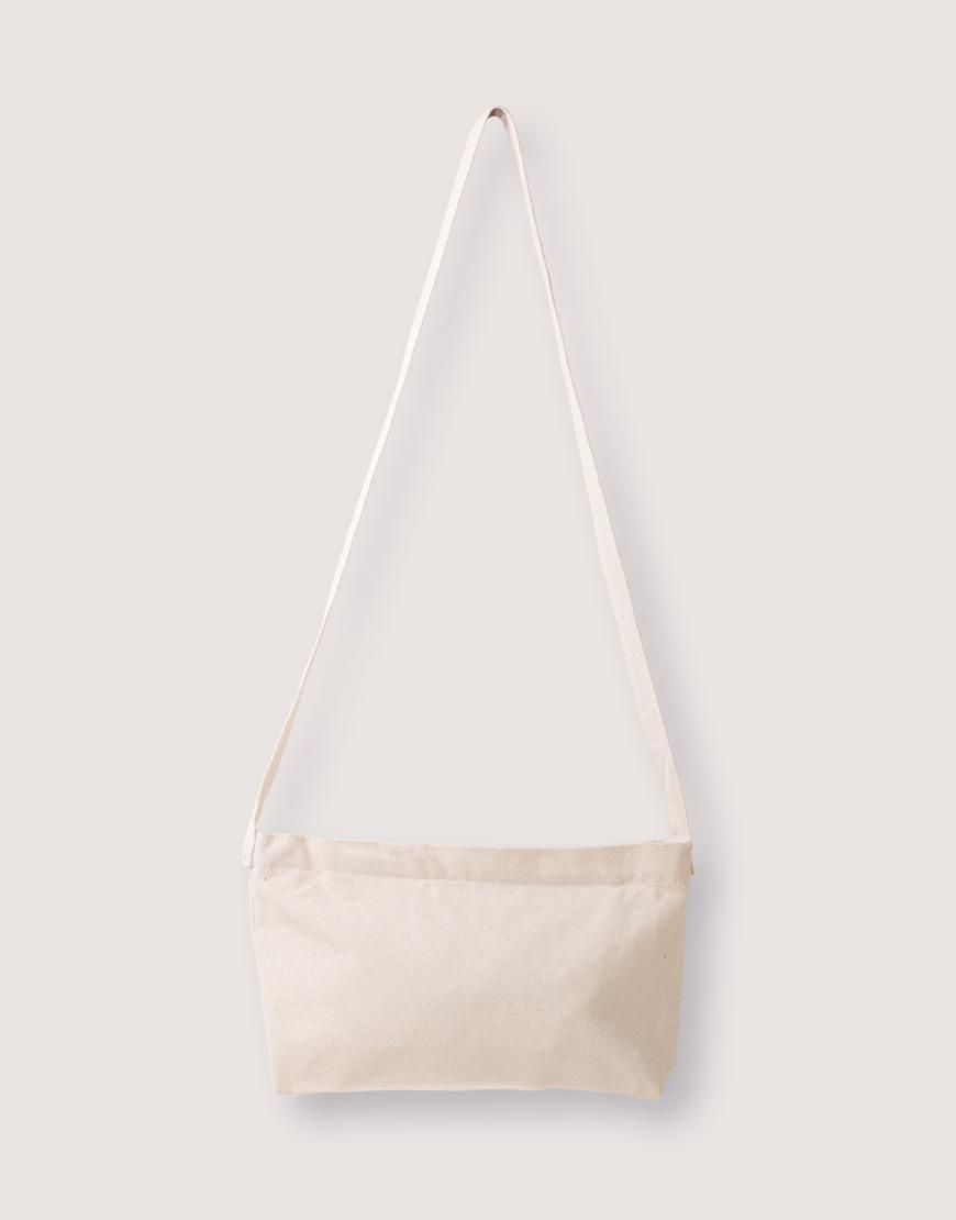 厚帆橫式斜背拉鍊包 - 2色