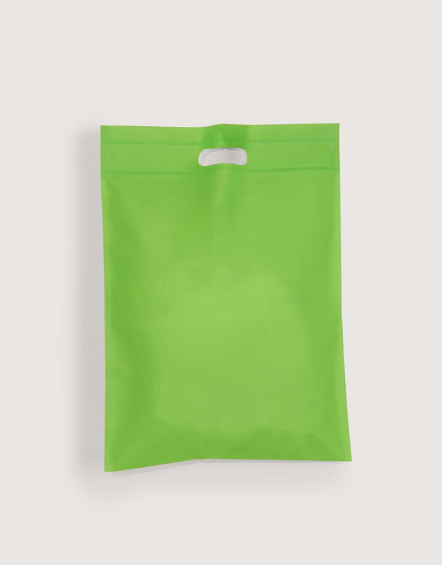 不織布直式沖口袋 - 小 - 綠