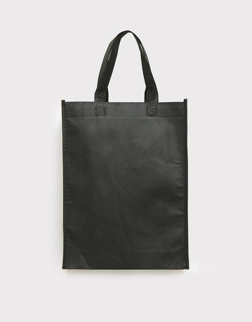 不織布有底有側直式袋 - 黑色