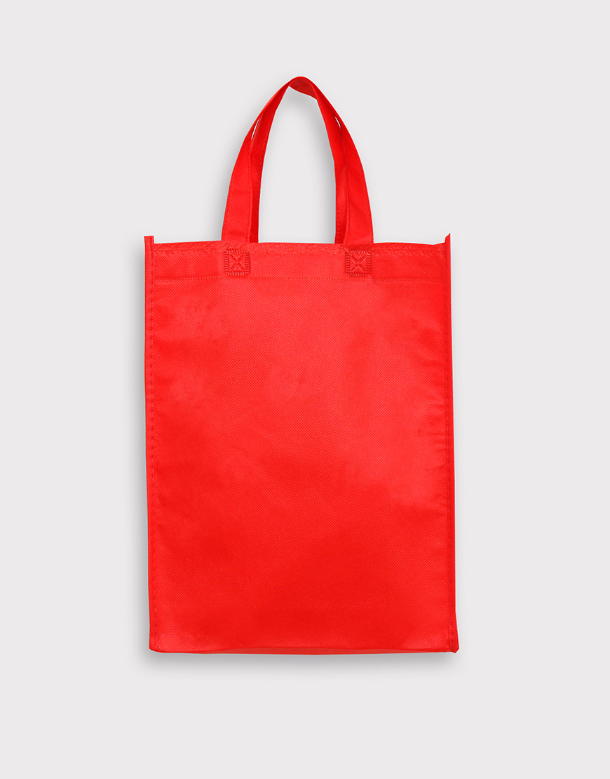 不織布有底有側直式袋 - 紅色