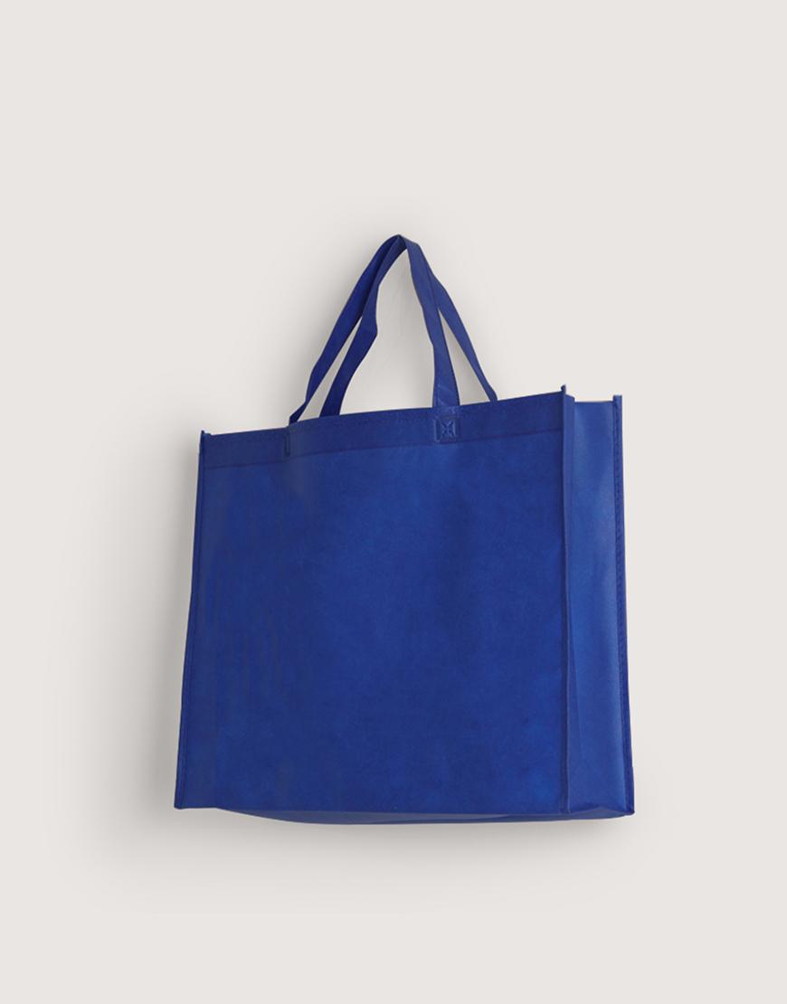 不織布有底有側橫式袋 - 大 - 深藍色