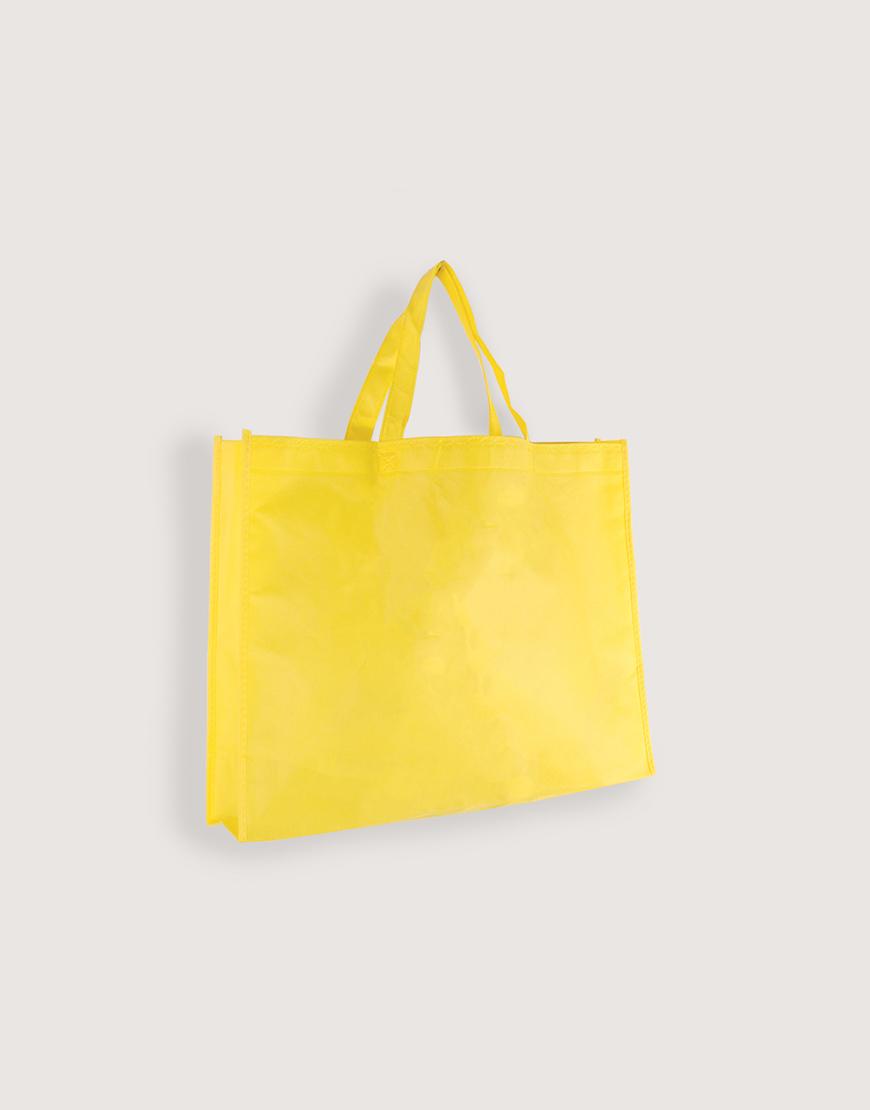 不織布有底有側橫式袋 - 大 - 黃色