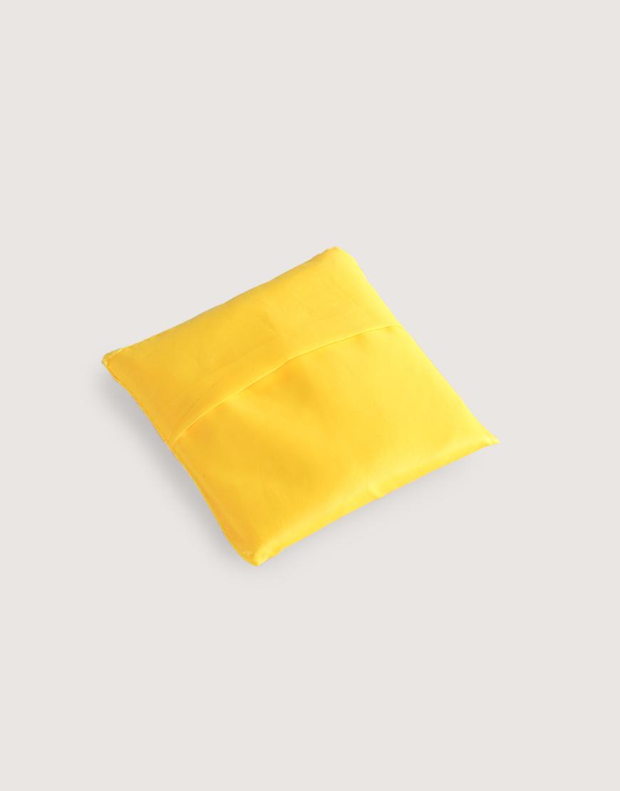 尼龍布190D折疊購物袋 - 黃色