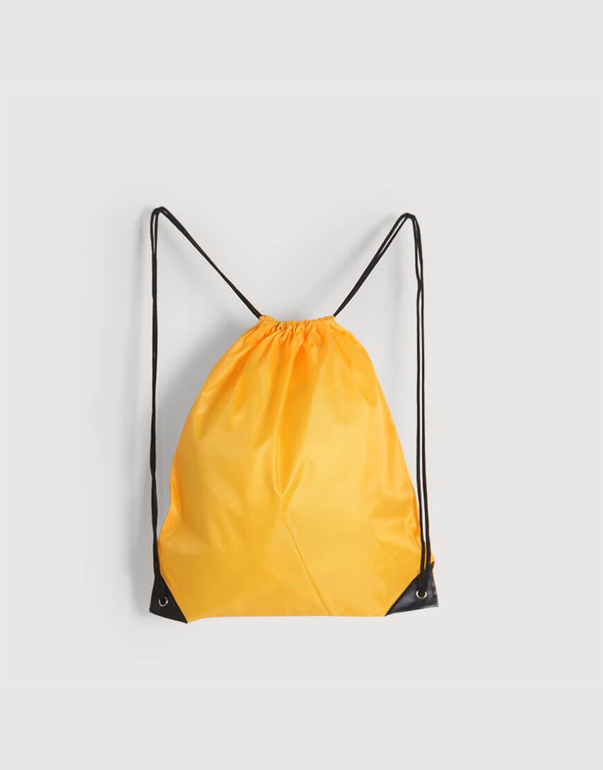 |缺貨|尼龍布210D束口後背包 - 黃色
