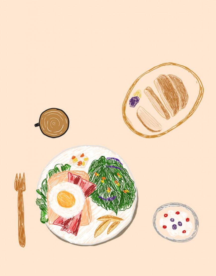  預購款  早午餐布簾 - ブランチ02
