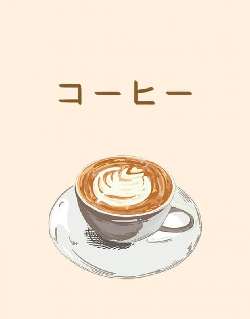 |預購款| 咖啡廳布簾 - コーヒー01