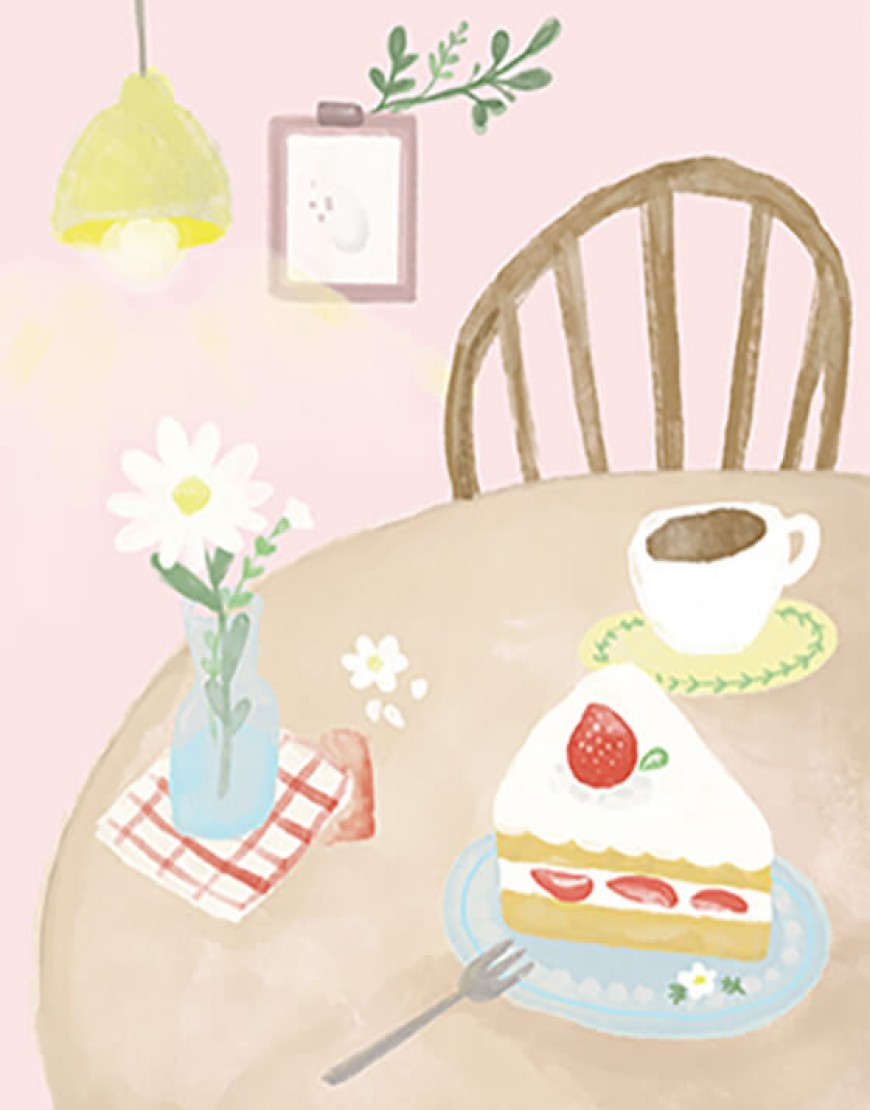 I 預購款 I 咖啡廳布簾 - コーヒー04