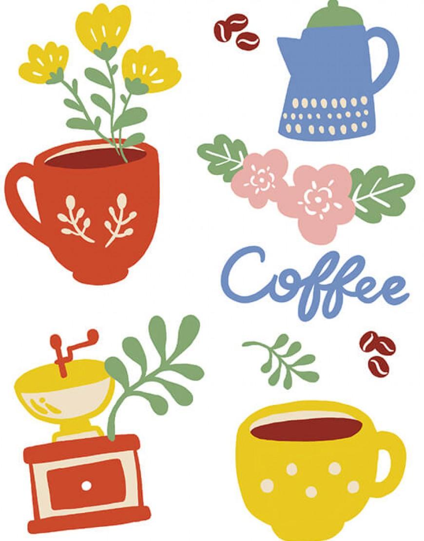 |預購款| 咖啡廳布簾 - コーヒー05