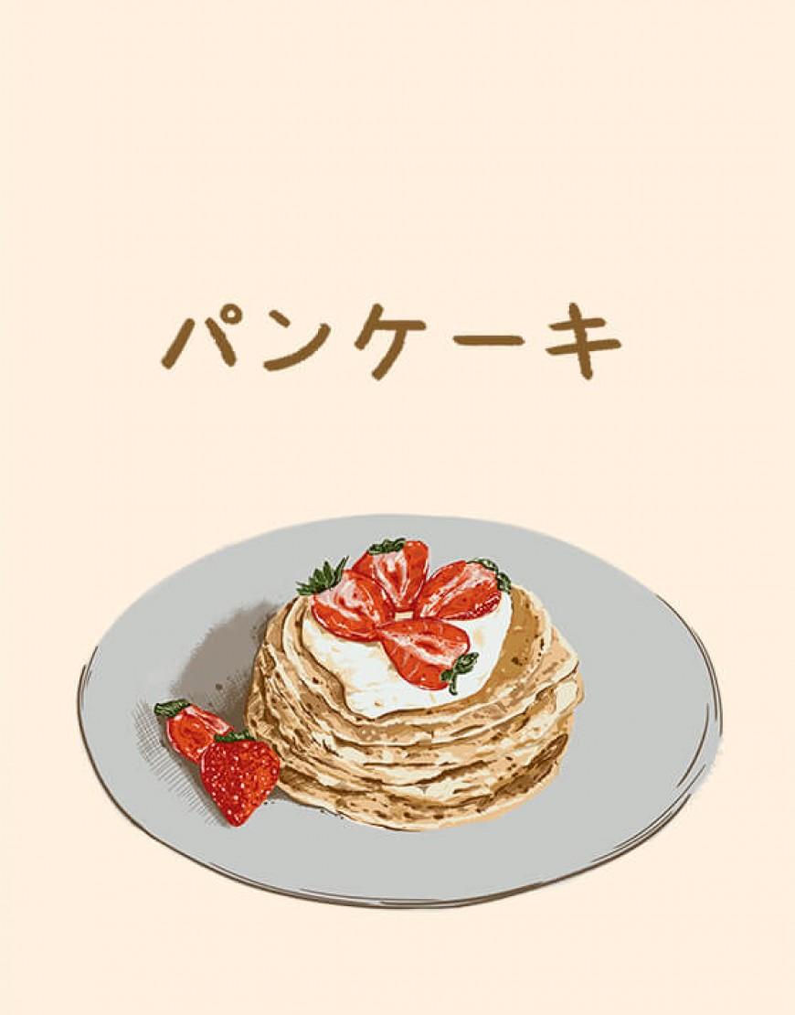  預購款  甜點布簾 - パンケーキ01