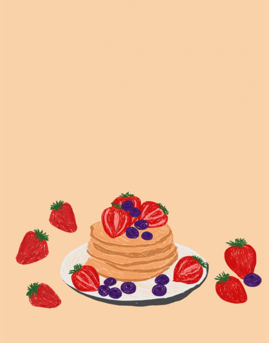|預購款| 甜點布簾 - パンケーキ02