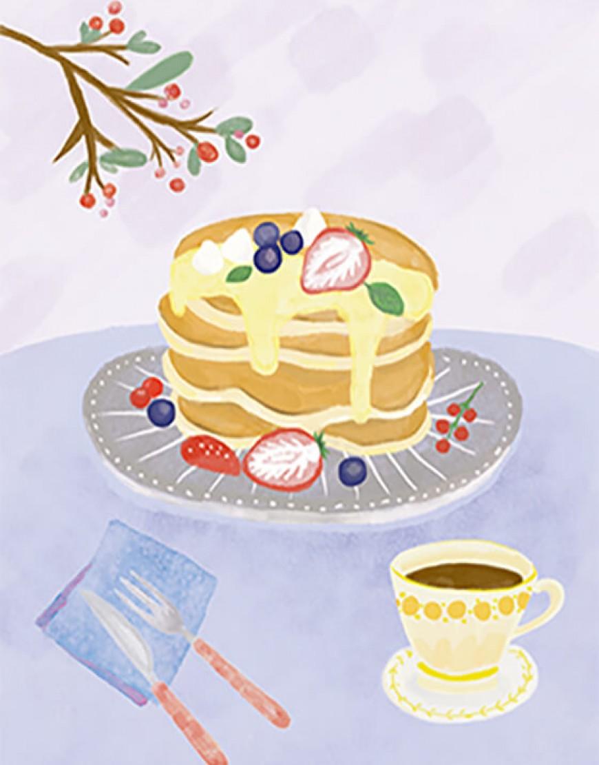  預購款  甜點布簾 - パンケーキ05