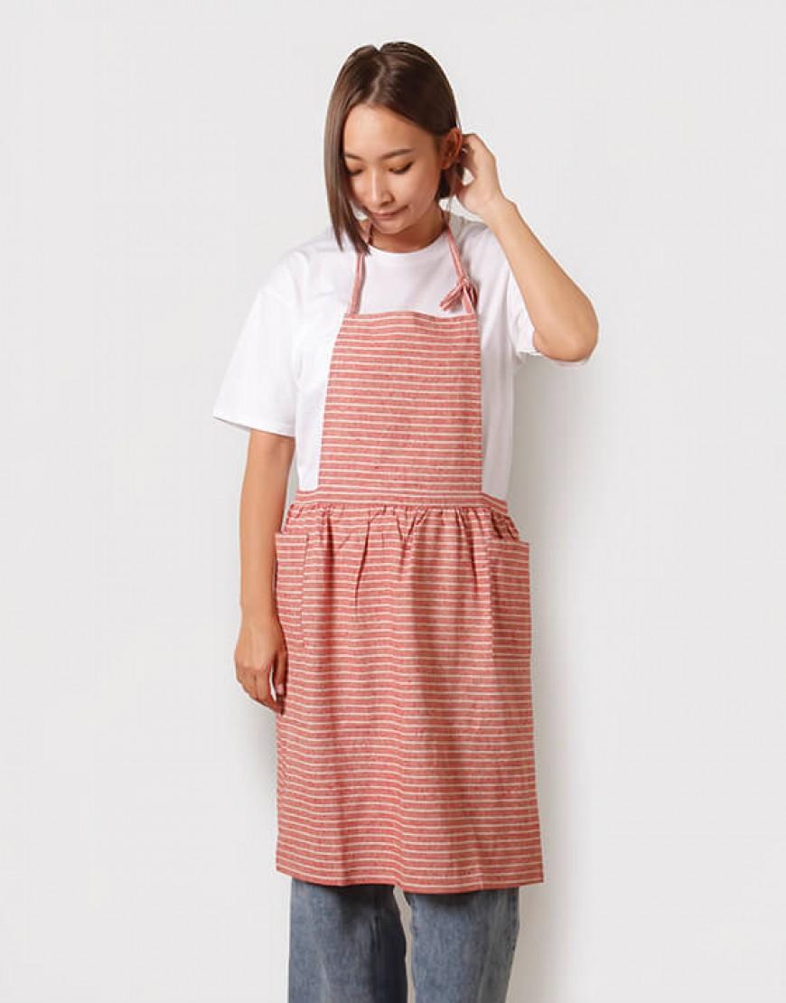 棉麻細繩繞頸雙口袋 - 3色