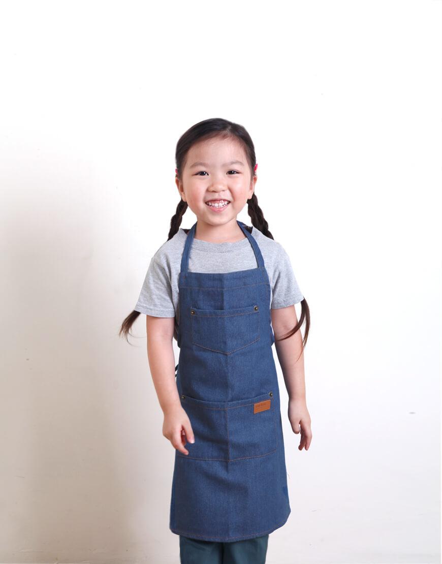 全棉牛仔圍裙 - 3色 I 兒童款 I