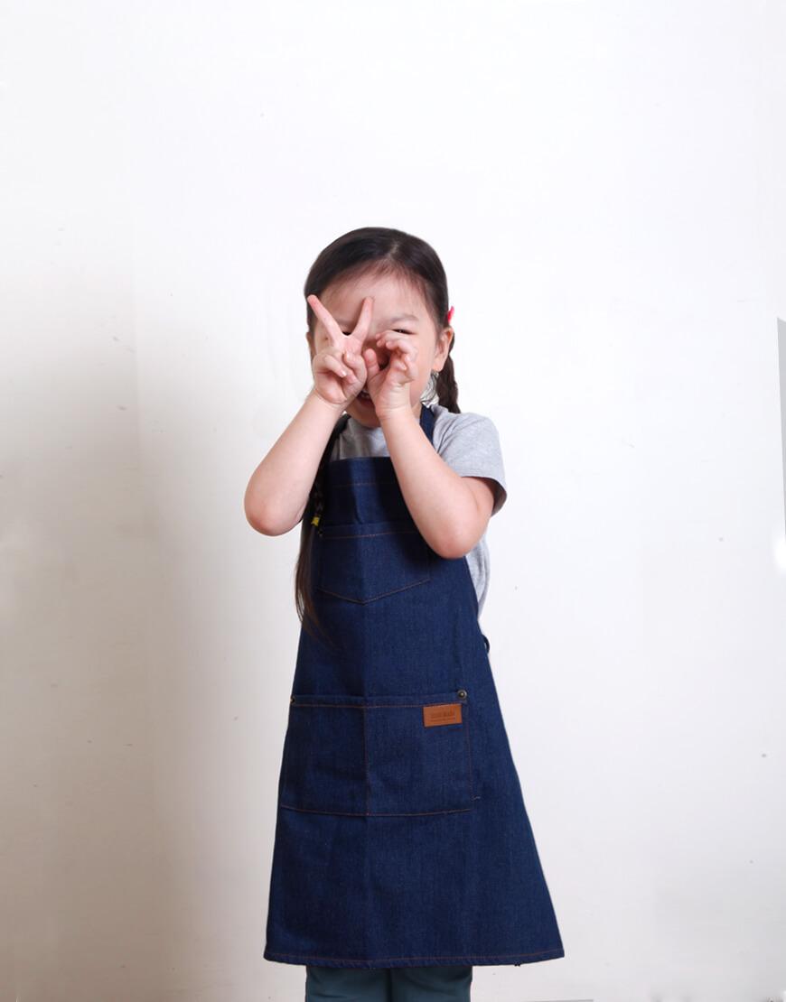 全棉牛仔圍裙 - 3色 I 兒童款S,M I
