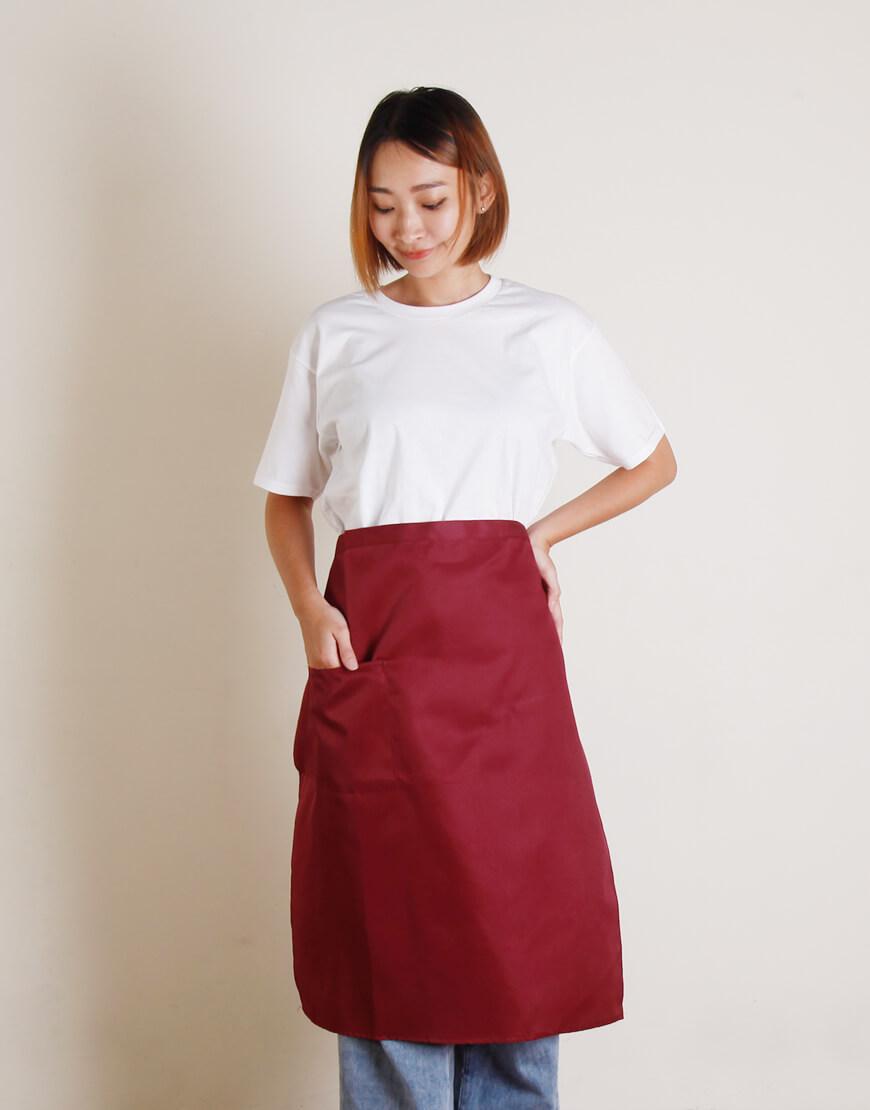 滌綸半身圍裙單口袋 - 2色