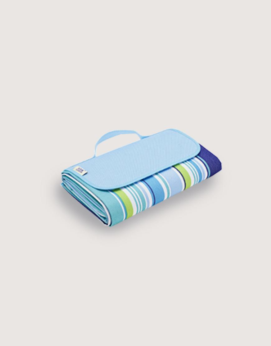 手提式牛津布防水防潮野餐墊 - 藍色條紋