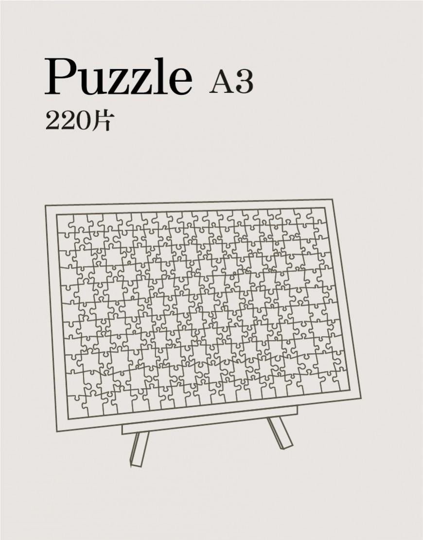 磁鐵拼圖 A3 (220片)