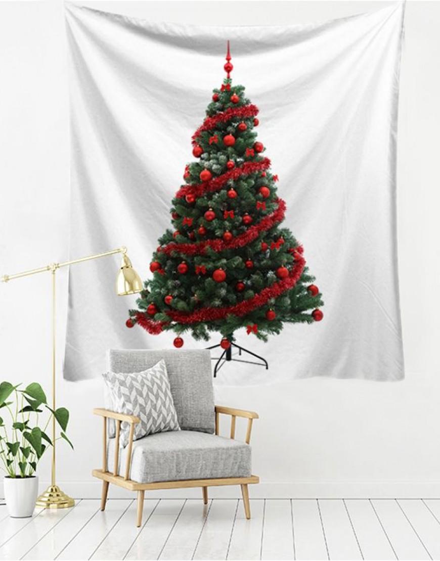 紅色裝飾聖誕樹掛簾
