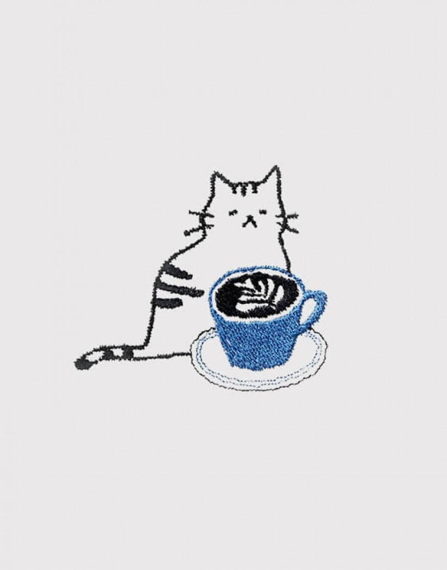 咖啡貓 - 藍
