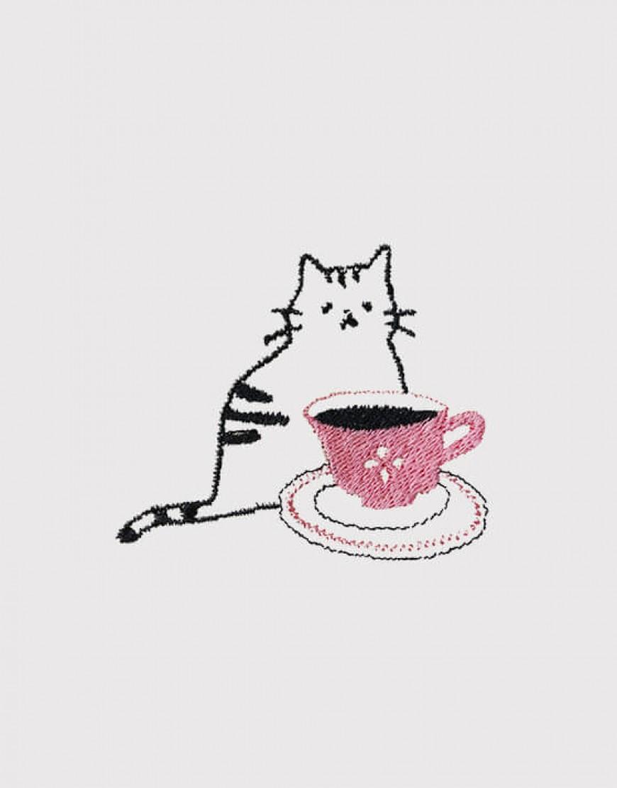 咖啡貓 - 粉