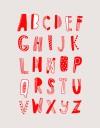 硬式貼紙 英文字母