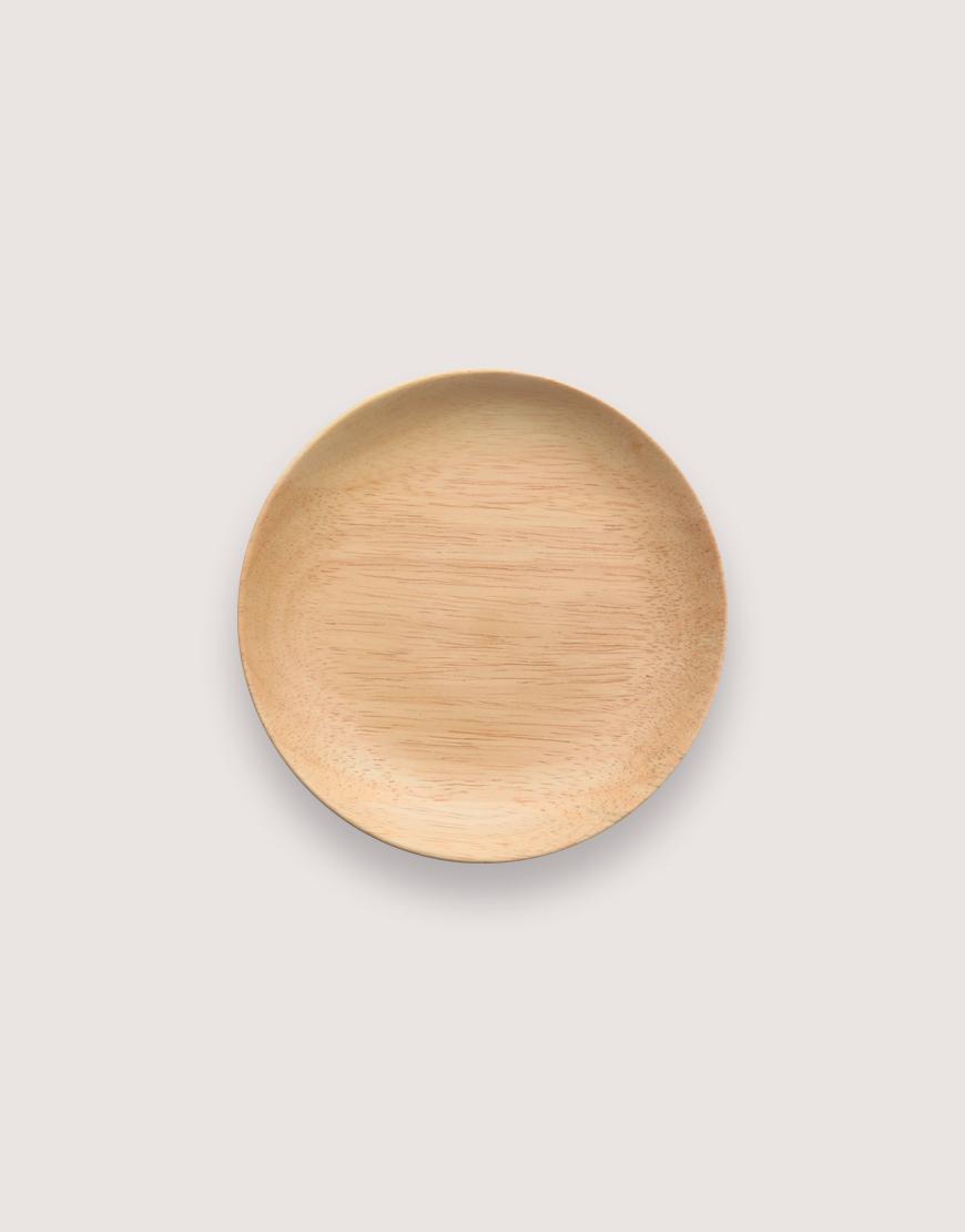 圓型橡膠木盤 - 小