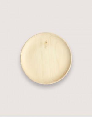 圓形雲杉木盤 - 大