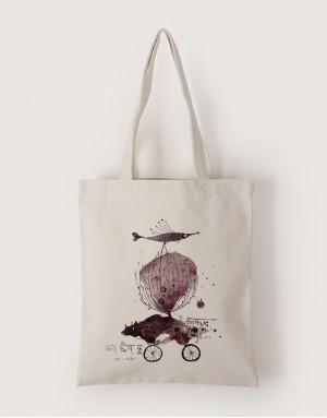中帆布單層直式袋 - 印度奇想