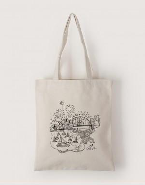 中帆布單層直式袋 - 澳洲跨年