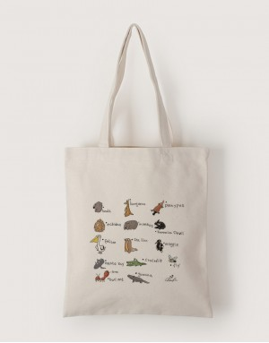 中帆布單層直式袋 - 頑皮世界
