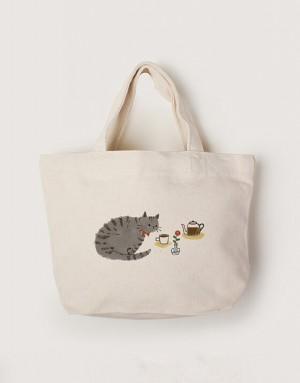 帆布小托特 - 貓咪咖啡廳