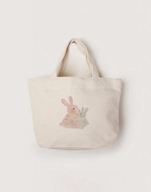 帆布小托特 - 兔子抱抱